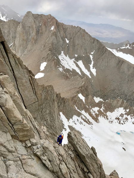 Pitch 7 of the East Buttress on Mt Whitney