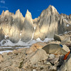 Base camp below Iceberg Lake, day after doing the East Buttress of Mt Whitney