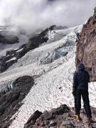 Rock Climbing Photo: Me, looking up the Kautz Ice chutes