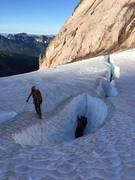 Rock Climbing Photo: A Crevasse on the Nisqually Glacier before the fan
