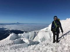 Rock Climbing Photo: me on upper Kautz glacier