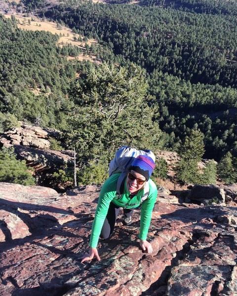 Rock Climbing Photo: Flatiron solo