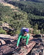 Rock Climbing Photo: Flatiron solo