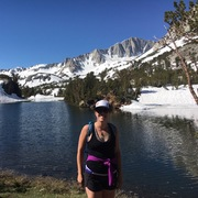 Rock Climbing Photo: Trail run up Bishop's Pass (Sierra)