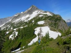 Rock Climbing Photo: Approaching Peak 6500 from east.