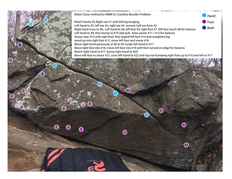 Rock Climbing Photo: Don't read if you don't want beta.