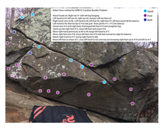 Rock Climbing Photo: Don't read if you don't want beta.  Similar to m...