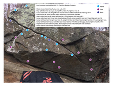 Rock Climbing Photo: Don't read if you don't want beta.  One more for...