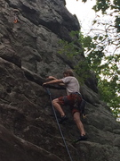 Brad Karuch on his first lead. On his second day outdoors. Killin...