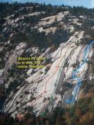 Rock Climbing Photo: Carter Ledge Routes (Gary Jones photo, Routes by B...