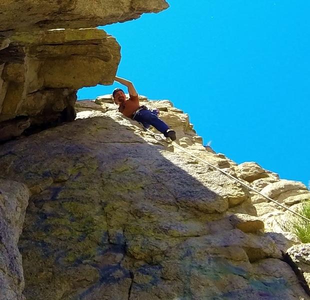 Sport climbing at Dinosaur Rock, Carson City