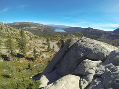 Rock Climbing Photo: Top roping The Green Phantom, Donner Summit, CA