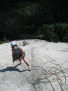 Rock Climbing Photo: S Matz on the very low angled slab just below the ...