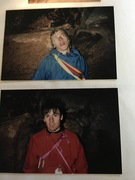 Benny (top) and me (Camster) during the first ascent overnight bevy. It was freezing....