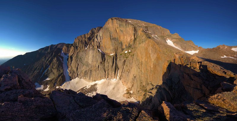 Rock Climbing Photo: Dawn on The Diamond from Chasm View.