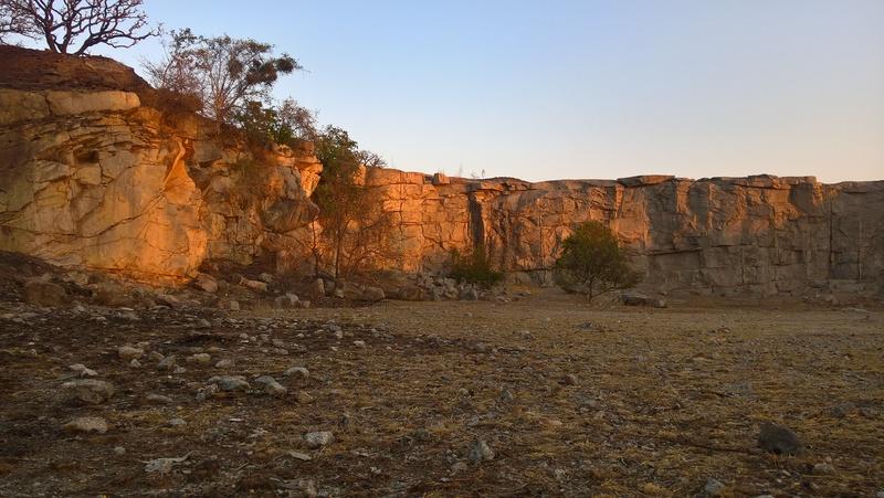 quarry at sunset