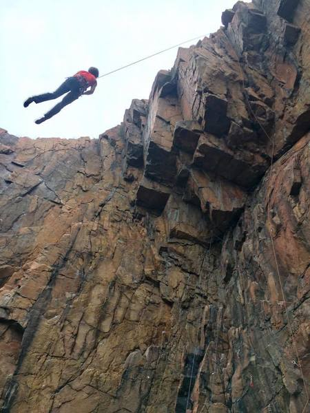 Rock Climbing Photo: The more popular routes.