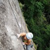 The face sequence on P4 before the traverse is fun!<br> <br> Photo: Derek Pearson