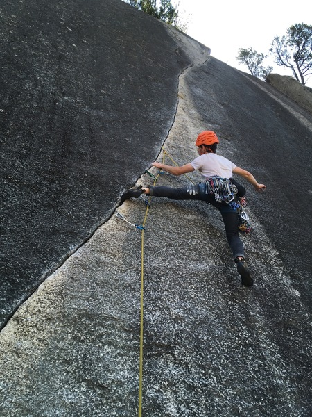 Rock Climbing Photo: This was a difficult onsight! Felt way harder than...