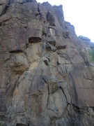 Rock Climbing Photo: A rope marking the route.