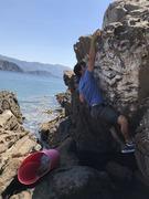 Rock Climbing Photo: me sticking the top jug