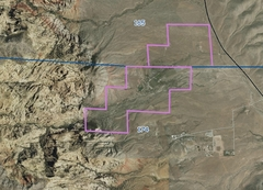 Rock Climbing Photo: Spring Mt Ranch State Park boundaries from gisgate...