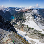Rock Climbing Photo: View from the last (and IMO best) pitch of the rou...