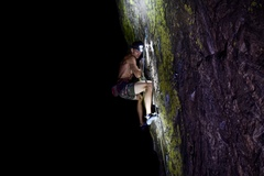 Rock Climbing Photo: Night time sending temps.
