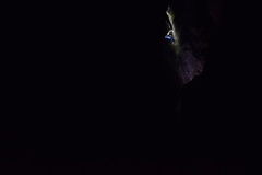 Rock Climbing Photo: Night action with Andrew Smiser.