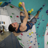 Zenith Staff Nick Chavis on the Lead Climbing Wall