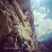 "Rock Climbing Photo: The ""crux"" pitch 14 linked into 15 (alth..."