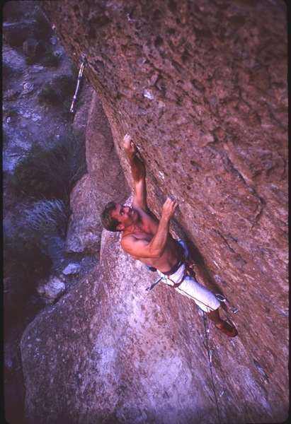 Craig Keaty on Emerald.  1994. Pond area. Queen Creek Canyon
