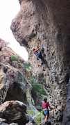 Rock Climbing Photo: Half way up Kathmandu! Beautiful route.