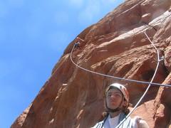 Rock Climbing Photo: Black Arrow, on belay?
