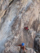 Rock Climbing Photo: Crux pitch of Frogland