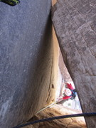 Rock Climbing Photo: Chockstone pitch, Frogland