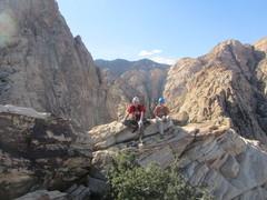 Rock Climbing Photo: On top of Whiskey Peak