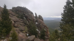 Rock Climbing Photo: Weather rolling in