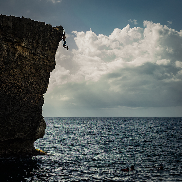 Rock Climbing Photo: Me on the climb, a little feet cut action for the ...