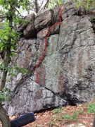 Rock Climbing Photo: Lost Traction - Mt. Spickett Wall