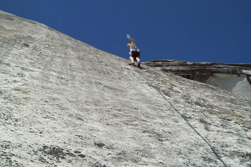 Rock Climbing Photo: Mike Arechiga on, Rope-A-Dope. 5.8+
