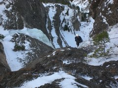 Rock Climbing Photo: High on Boulder