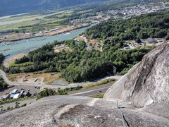 Rock Climbing Photo: Top of the 5th pitch of Diedre. (Bring lots of sma...
