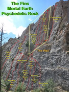 Rock Climbing Photo: Psychelic Rock beta picture with route Comforably ...