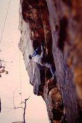 Rock Climbing Photo: Top roping the cave route at Fall River, Kansas.  ...