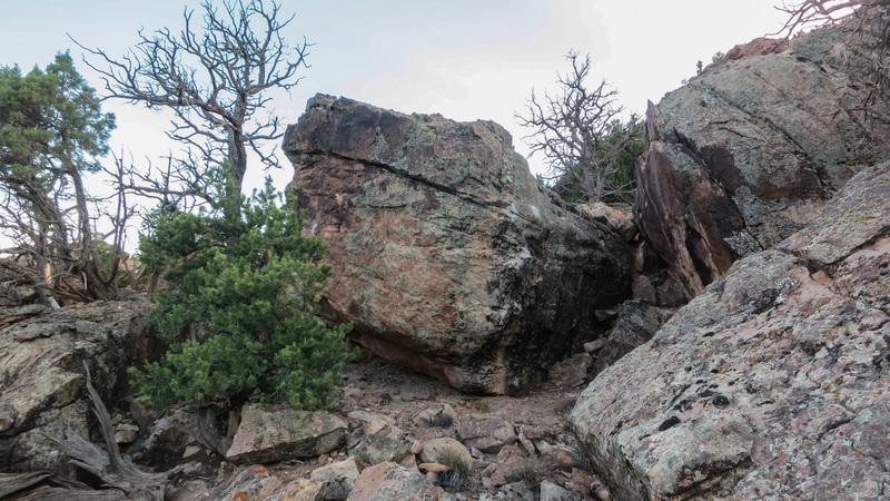 Bucking Chute Boulder.
