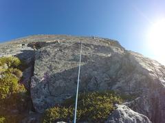 Rock Climbing Photo: Nick Roy leading on Ragged Edge.