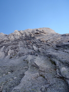 Rock Climbing Photo: A second just about to reach the belay at the top ...