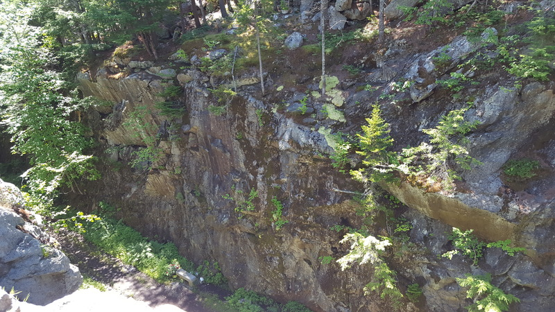 Rock Climbing Photo: Memorial Route above marble seat