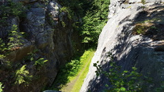 Rock Climbing Photo: Looking down the cut from above.